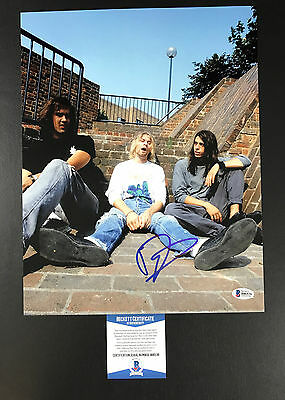 Dave Grohl Signed Nirvana 'with Kurt Cobain' 11X14 Photo Bas Coa Beckett 2
