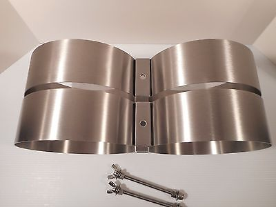 New 3IN  Stainless Steel Tank Bands  8 1/2 Inch Diameter Cylinders (216MM Faber)