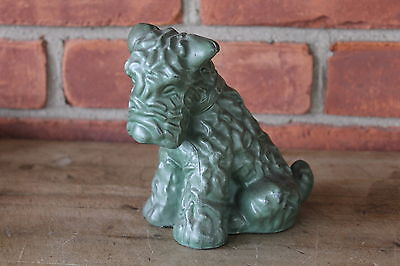 Vintage Large Airedale Terrier Dog Figurine - Art Deco Nouveau -