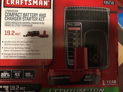 NEW Craftsman C3 19.2-Volt Lithium-Ion Compact Battery and Charger Starter Kit
