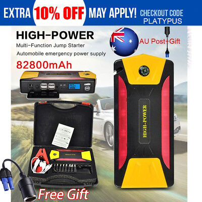 82800mAh Car Jump Starter Emergency Charger Booster Power Bank Battery Diesel