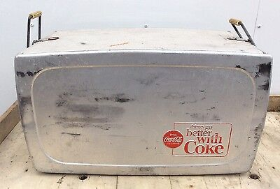 RARE Vtg 50s 60s Silver Drink Coca-Cola Coke Cooler Thermos Things Go Better