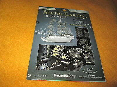 2012 Fascinations Metal Earth 3D Laser Cut Model Black Pearl Ship Boat Prate New