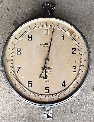 """Antique Vtg Chatillon Type ISO-SEAL Hanging Grocery General Store Scale 14.5"""""""