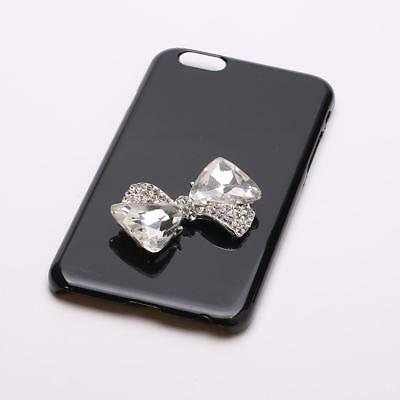 5pcs 3D Bowknot Diamante Rhinestone Alloy DIY Phone Case Decor Bling Design