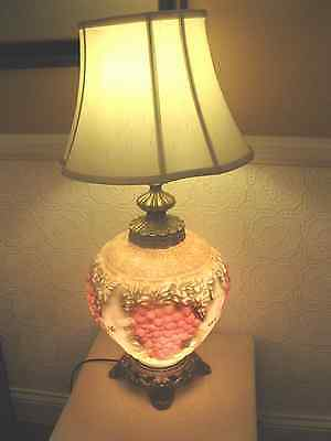 Hollywood Regency, Falkenstein Style Grape Design, High Relief Lamp, Perfect!