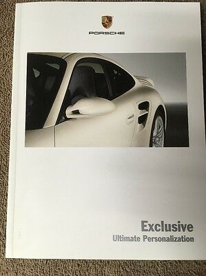 Porsche Exclusive Options Carrera Cayenne Boxster Cayman Brochure USA Edition