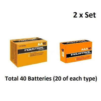 20 x AA & AAA Duracell Industrial Alkaline 1.5v Multi Batteries for Electronics