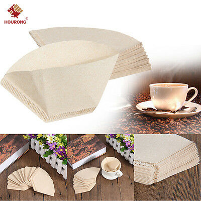 100Pcs Paper Cone Coffee Filter Coffee Filter Unbleached Natural Disposable New