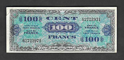 France 100 Francs Allied Military Currency 1944 WW II