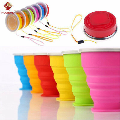 Portable Silicone Folding Cup Telescopic Drinking Collapsible Travel Camping L