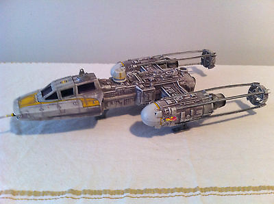 Star Wars  Large Y-Wing Fighter Suit Figures -  In Gc-Must See !