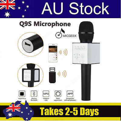 Wireless MicGeek Q9S Microphone Bluetooth KTV Karaoke Portable For Android Sony
