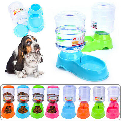 3.5L Pet Dog Cat Automatic Water Dispenser Feeder Bowl Food Device Bottle Dish