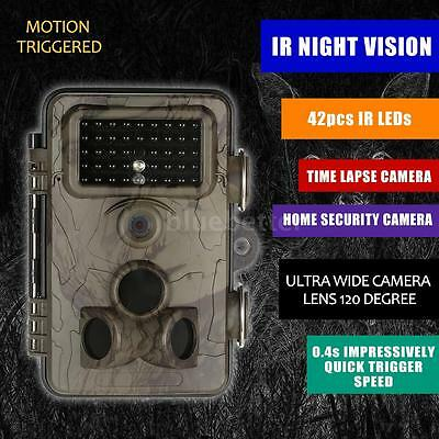 12MP 1080P Hunting Trail Camera HD Infrared Black Night Vision Support WiFi Q2T3