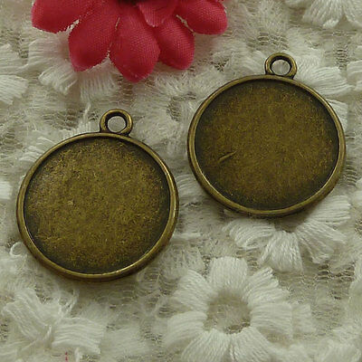 free ship 75 pieces bronze plated frame charms 29x25mm #3006