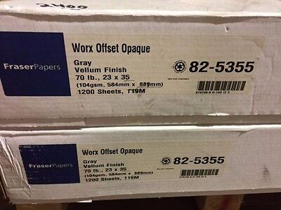 Fraser Papers Worx Offset Opaque 70 lb 23 x 35 1,200 sheets Gray
