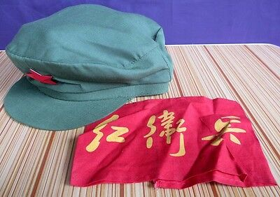China PLA Red Army Hat Red Guard Cosplay Green Cap Mao Hat With Star & Arm Band