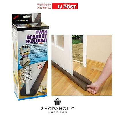 Twin Draft Stopper Double Sided Draught Excluder Window Door Snake Guard