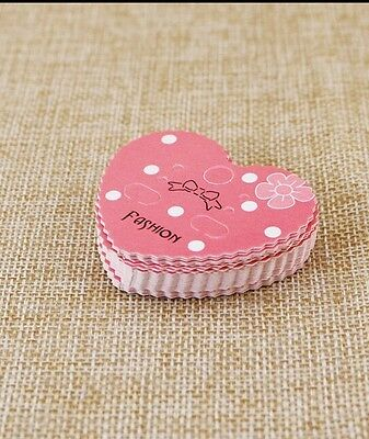 30 pcs Heart Shape Earring Display Cards for Jewelry Package 42x50mm