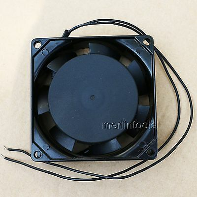 Ac 220V - 240V Ball Bearings In Aluminum Cooling Fan 80 X 80 X 38Mm Hbl