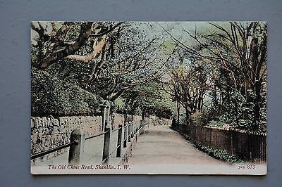 R&L Postcard: The Old Chine Road Shanklin IOW, JWS Wrench 1906