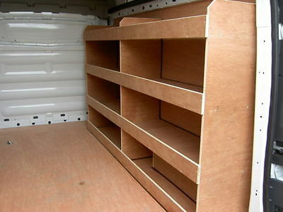 Ford Transit Custom SWB Off Side open Compartment Plywood, Ply Racking,Shelving