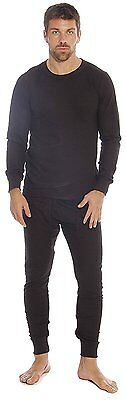 95962-Black-L At The Buzzer Thermal Underwear Set for Men