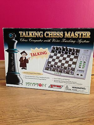 Systema Krypton Talking Chess Master Computer Electronic - Instructions/bag