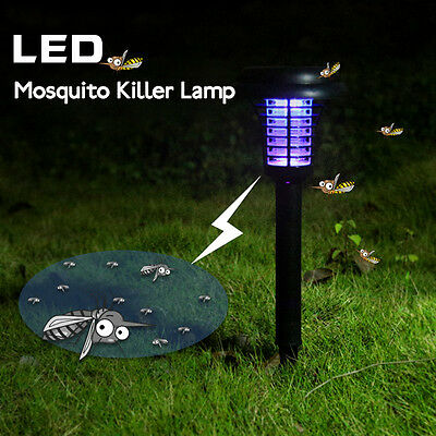 BG4205 Garden Solar Power LED Mosquito Killer Lamp Yard Plastic Waterproof Lawn