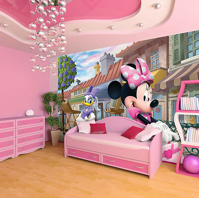 Wallpaper mural for Girl's bedroom Giant photo wall Minnie &  Deasy Disney