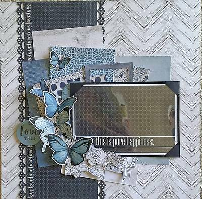 """12"""" X 12"""" Handmade Layout Pre-made Scrapbook Page - Love this!"""