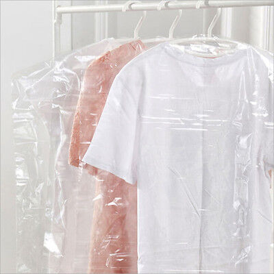 20/40/60/80/100 pcs Clear Durable Plastic Dry Cleaner Clothes Bags GARMENT COVER