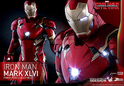 MARVEL Iron Man Mark 46 Action Figure Hot Toys Captain America Civil War PPS003