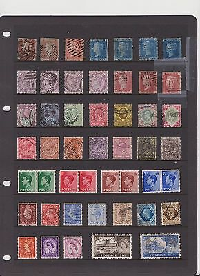 Pre-decimal British stamps 49 used and mint stamps QV TO QE2