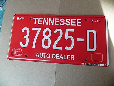 Tennessee Dealer Plate 2013