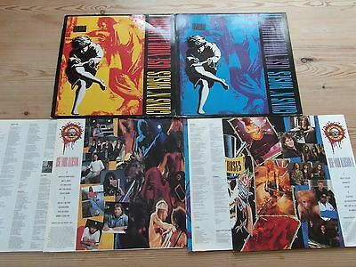 "GUNS N' ROSES - USE YOUR ILLUSION 1&II - 1st PRESS-""SUPERB AUDIO'S"" EX+VG+ 1991"