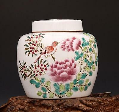 chinese ancient Colored glaze  porcelain sculpture Flowers and birds The tea pot