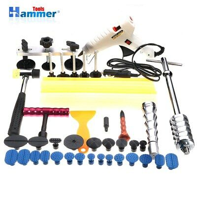 Car Body PDR Paintless Dent Repair Tools Puller Removal Glue Pulling Tabs Hamme