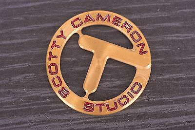Scotty Cameron brand new 2010 Holiday Circle-T CT Tour gold coin ball marker