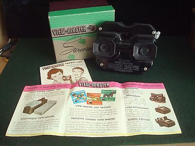 VIEW MASTER VIEWER STEREOSCOPE BOXED with LEAFLETS