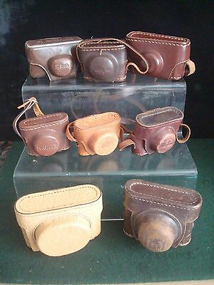 Selection Vintage Subminiature Camera LEATHER CASES - RICOH 16 - MIKROMA  METEOR