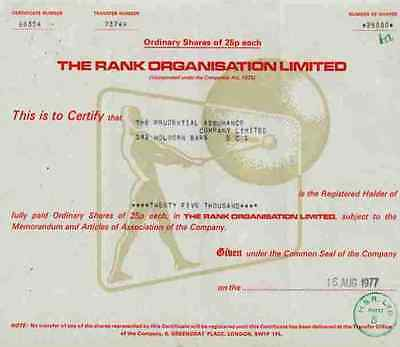 Rank Organisation 1977 Odeon EMI BBC Pinewood Film Studio Xerox Hard Rock Cafe
