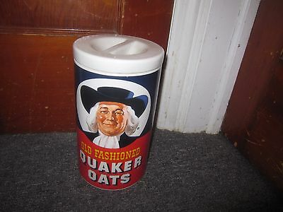 Vintage Quaker Oats Advertising Canister 1970's