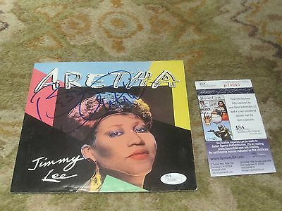 Aretha Franklin Autographed Record Cover JSA Authenticated