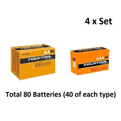 40 x AA & AAA Duracell Industrial Alkaline 1.5v  Multi Batteries for Electronics
