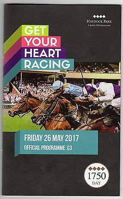 Haydock Park Race Card (book) Friday 26 May 2017 Fine Used R36136