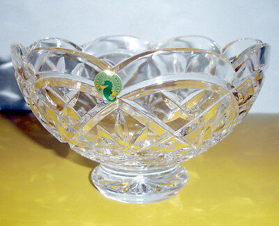 """Waterford CULLEN Footed Bowl 8"""" Scalloped Edge Made in Ireland #135285 New"""