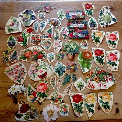 Genuine Victorian Scraps - Die Cuts Flowers - Obalaten - All Good