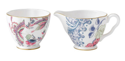 Wedgewood Butterfly Bloom Creamer and Sugar Bowl tea service